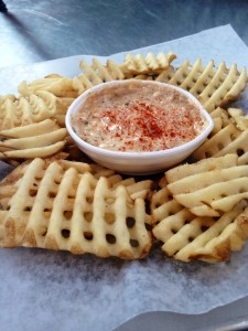 Crab Dip with Fries